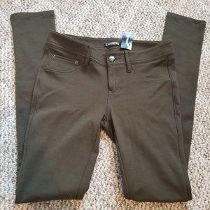 Express Skinny Stretch Olive Pants NWT